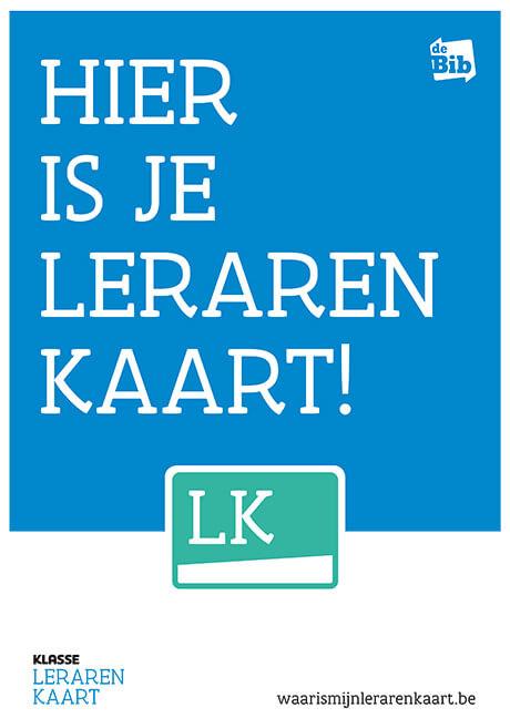 Lerarenkaart affiche